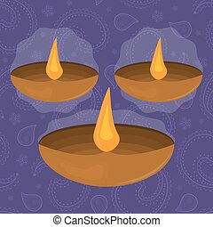 Diwali Festival of Lights symbol vector illustration