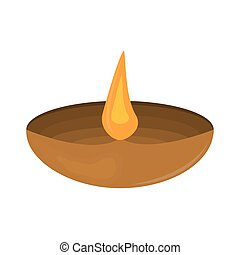 Diwali Festival of Lights on a white background