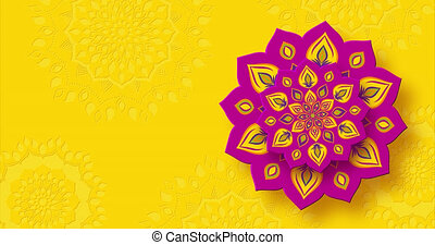 diwali, festival, rangoli, lights., indien, tourner