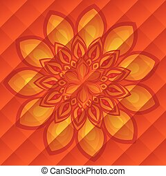 diwali flower decoration over orange background