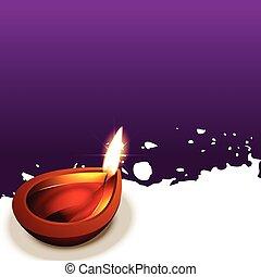 diwali, fond, créatif
