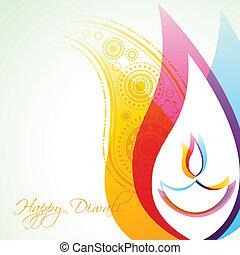 diwali, grafické pozadí, tvořivý
