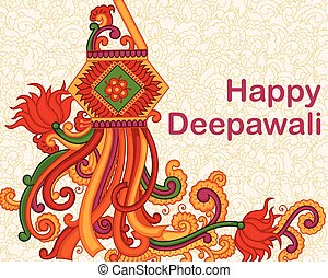 Illustration Of Happy Diwali Promotion Background With Clipart