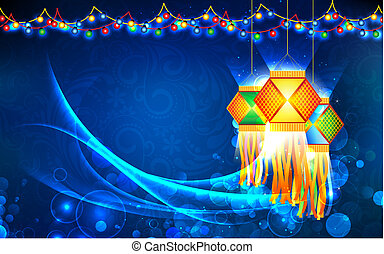 Diwali Hanging Lantern - illustration of hanging lantern ...