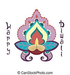 diwali, holiday., heureux