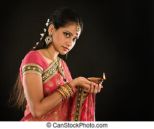 Diwali Indian girl