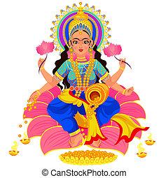 Diwali Indian holiday Lakshmi goddess of wealth - Diwali...