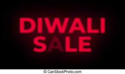 Diwali Sale Text Flickering Display Promotional Loop. -...