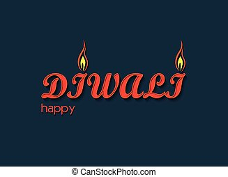Diwali text art design