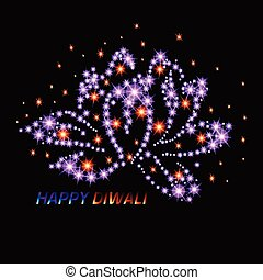 Diwali the Indian Festival of Lights. Greeting card. -...