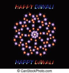 Diwali the Indian Festival of Lights. Greeting card.