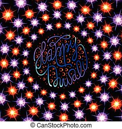 Diwali the Indian Festival of Lights Greeting card.