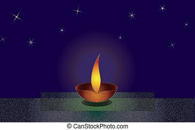 Diwali Two - Diwali Greeting card, to celebrate the festival...