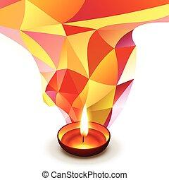 diwali, voeux, conception