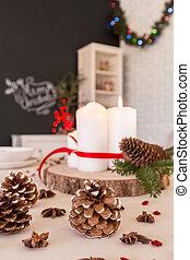 DIY Christmas table decoration