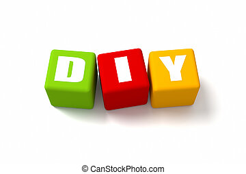 DIY Colored Cubes - Do It Yourself colored cubes. Part of a...