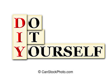 DIY - Do It Yourself acronym on white background