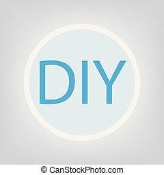 Do it yourself blue 3d speech bubble do it yourself blue 3d diy do it yourself acronym solutioingenieria Choice Image