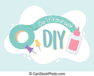 DIY do it yourself tools card