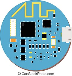 DIY electronic mini mcu and wifi board with a...