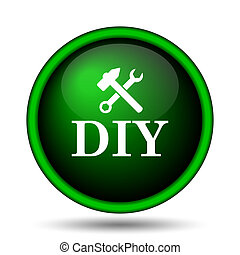 DIY icon. Internet button on white background.