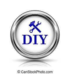 DIY icon - Shiny glossy icon - internet metallic button