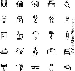 DIY line icons on white background
