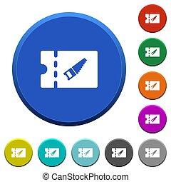 DIY shop discount coupon beveled buttons - DIY shop discount...