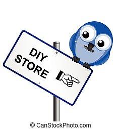 DIY store sign