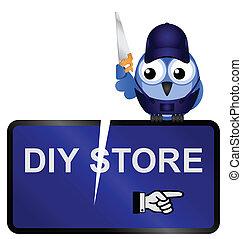 diy., tegn, butik