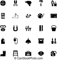 DIY tool icons on white background