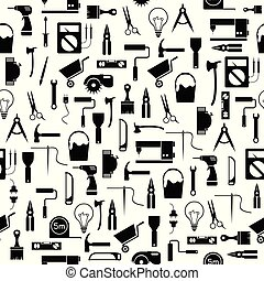diy tool seamless pattern background icon.