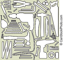 DIY tool - silhouette illustration