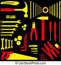 DIY tool - Isolated silhouette illustration of DIY tool