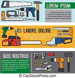 Diy workshop tool banners
