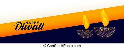 diya, 祝祭, 流行, 幸せ, 装飾用である, ランプ, 旗, diwali