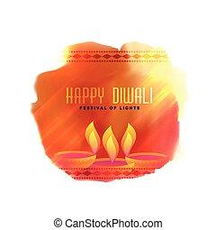diya, 祝祭, diwali, 創造的, 背景, 流行