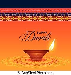 diya, festival, diwali, indisk, baggrund, etniske