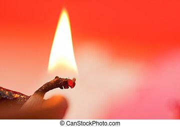 Diya,an oil lamp. - Diya,an oil lamp usually made from clay,...