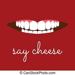 dizer, queijo, cartão