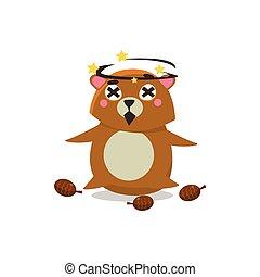 Dizzy Brown Bear
