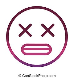 dizzy face funny smiley emoticon expression gradient style icon