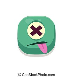 Dizzy Monster Square Icon