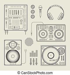 dj, ícones