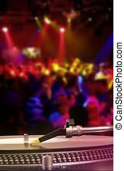 dj の回転盤, ∥で∥, ビニールレコード, 中に, ∥, ダンスクラブ