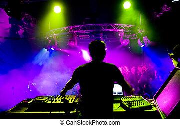 dj, 在, the, 音樂會