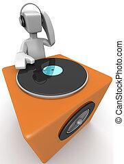 dj, 混合音楽, そして, ダンス
