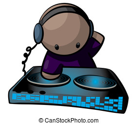 DJ Artist Using Turntable - A DJ music artist using a turn...