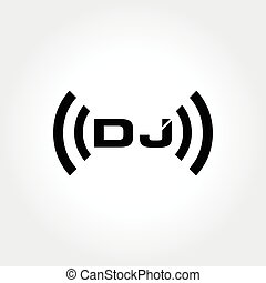 DJ clever initial typography - an amazing DJ brand concept...