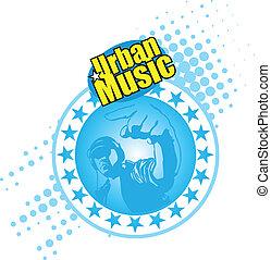 Dj club - a funky dj mixing with background